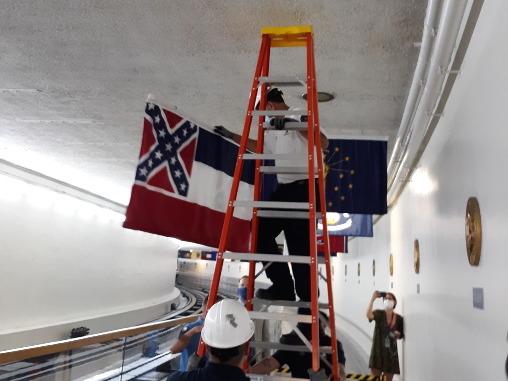 Mississippi state flag removed