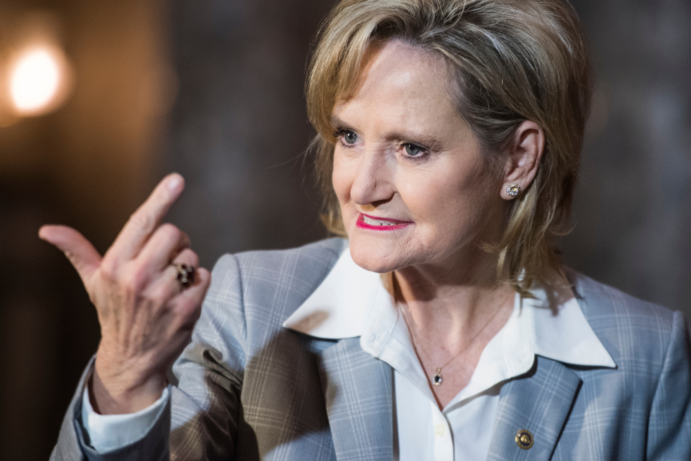 Sen. Cindy Hyde-Smith, R-Miss. (Tom Williams/CQ Roll Call)