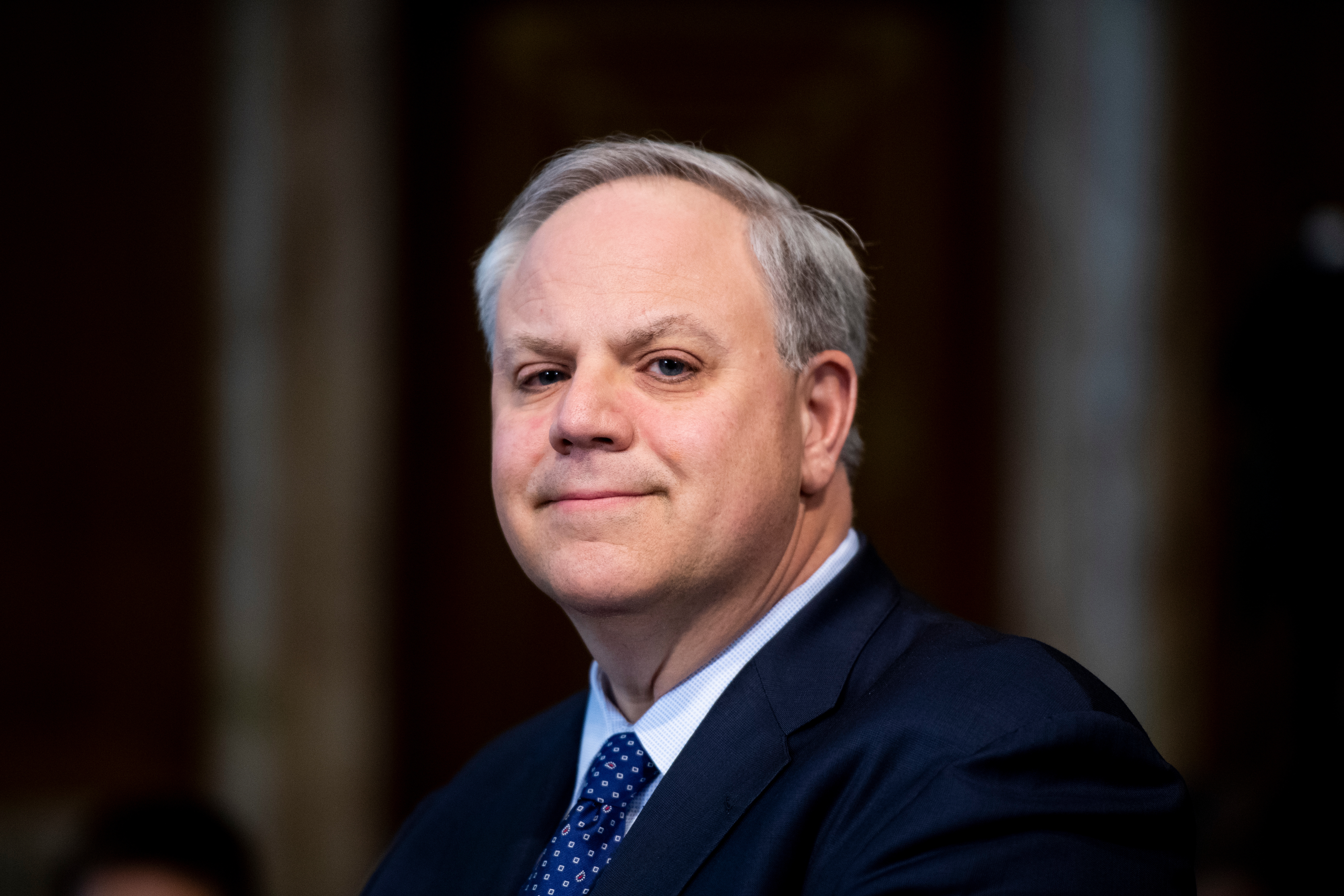 Secretary of the Interior David Bernhardt at a Senate Energy and Natural Resources Committee budget hearing in March Bill ClarkCQ Roll Call file photo