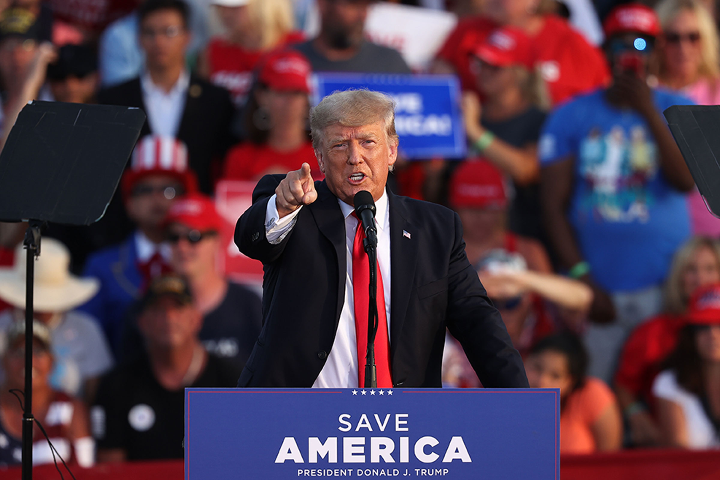 Former President Donald Trumps vengeance tour against his GOP critics that began with a Saturday night stop in Ohio proves he will never willingly give up the limelight Shapiro writes Tayfun CokunAnadolu Agency via Getty Images