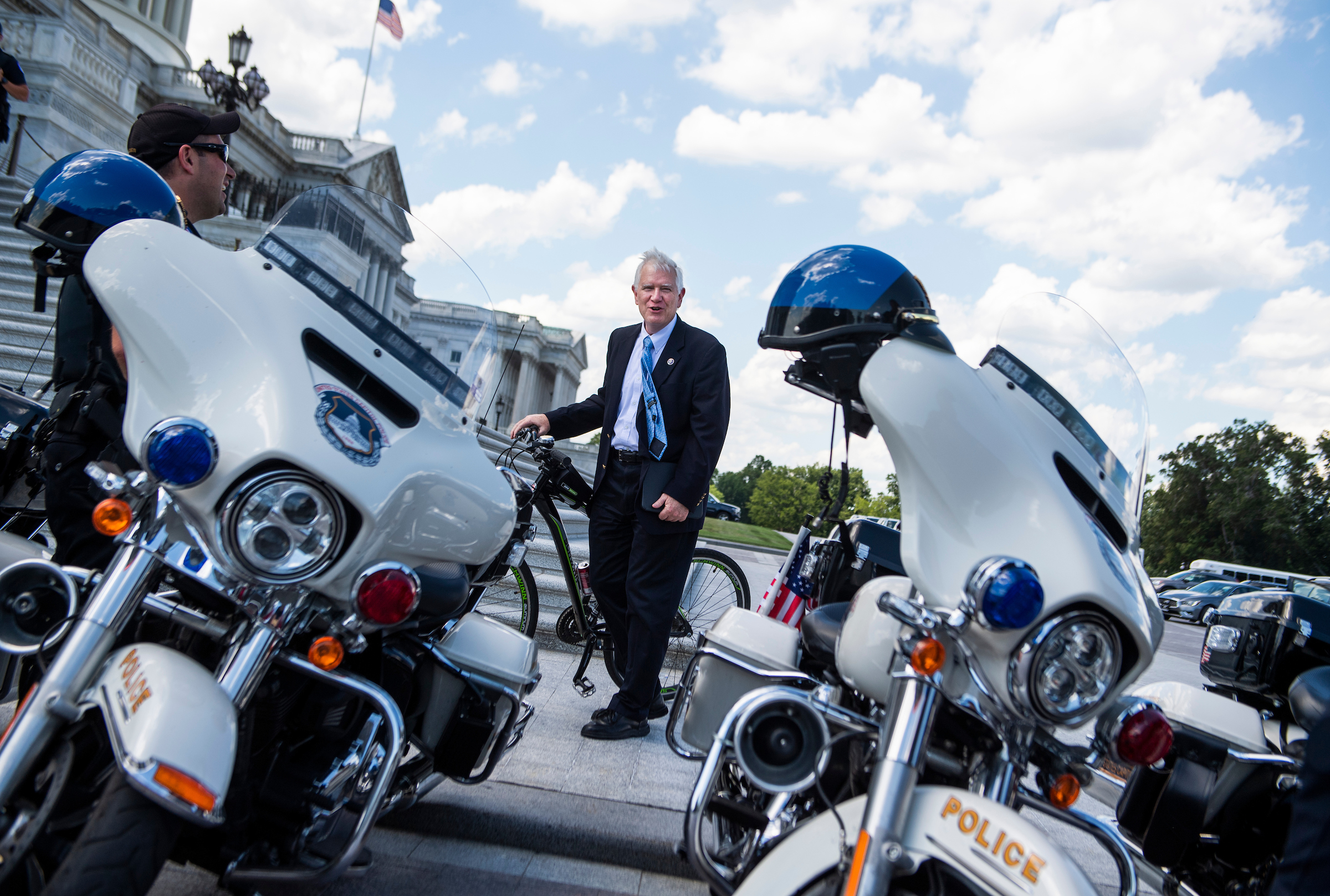 Alabama Republican Rep Mo Brooks here talking with Capitol Policel won039t get the backing of the Justice Department or House lawyers in his bid to be removed from a lawsuit related to the Jan 6 mob attack on the Capitol Tom WilliamsCQ Roll Call file photo